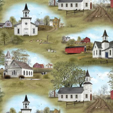 Amazing Grace Scenic fabric 1\2 the yard