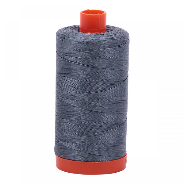 Mako Cotton Thread Solid 50wt 1422yds Dark Gray