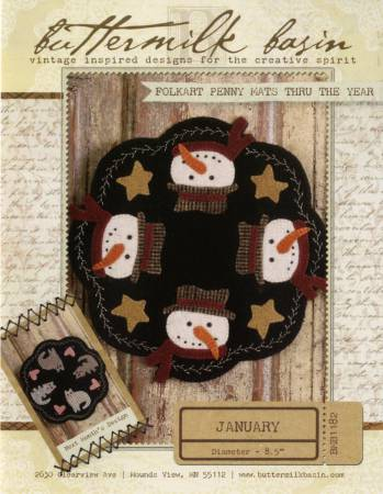 Folkart Penny Mats thru the Year January