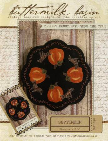 Folkart Penny Mats through the Year Sept Pumpkins