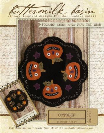 Folkart Penny Mats through the Year Oct Jacks