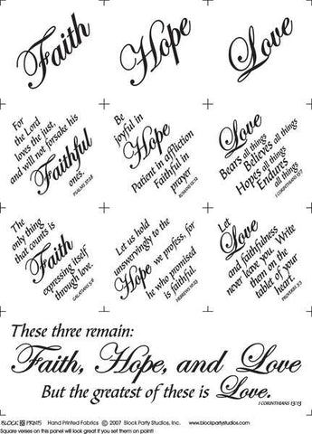 Faith, Hope, Love Panel