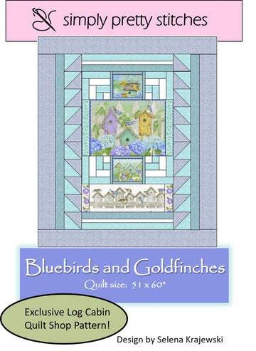 Bluebirds and Goldfinches Pattern