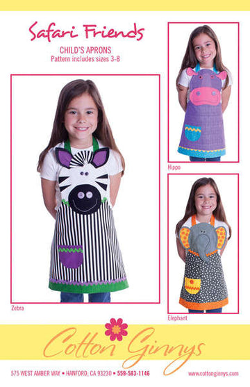 Safari Friends Apron Pattern