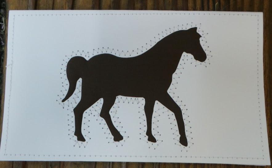 Horse Quilted Card