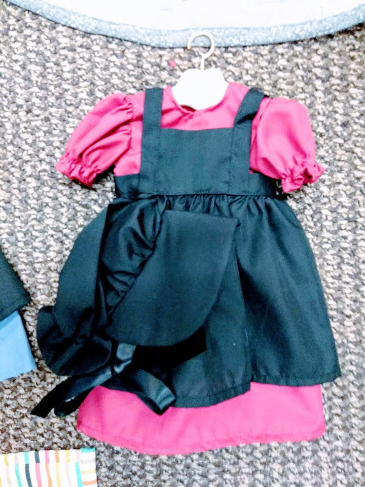 Amish American Girl Doll Dress Set Burg.