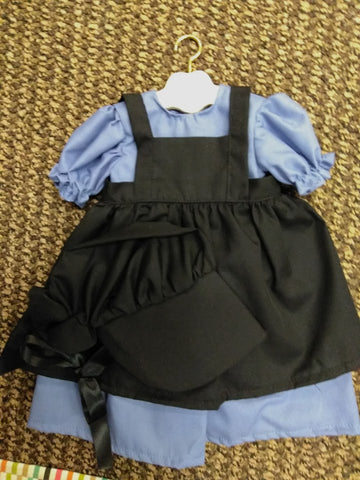 Amish American Girl Doll Dress Set Blue