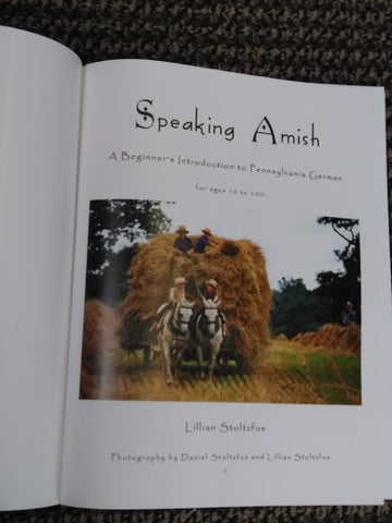 Speaking Amish Book by Lillian Stoltzfus