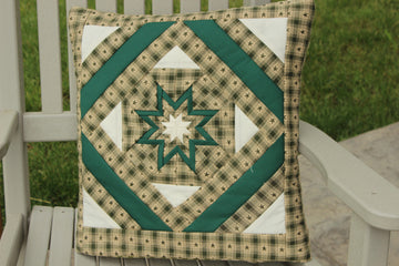 Green Homespun Quillow