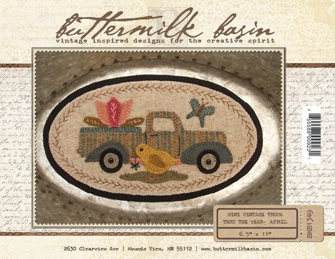April Mini Vintage Truck Pattern
