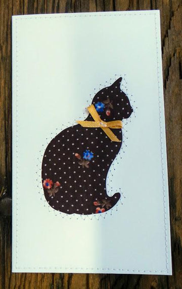 Cat Quilted Card