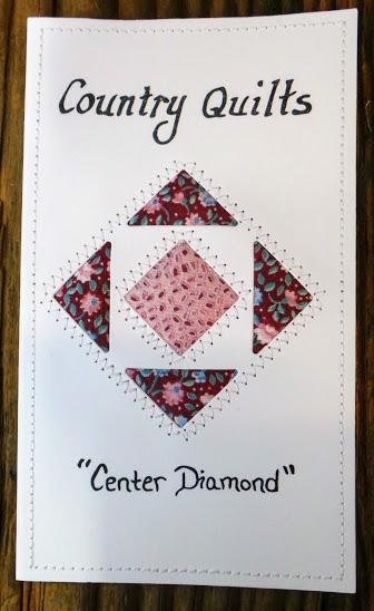 Center Diamond Quilted Card