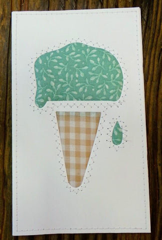 Ice Cream Cone Quilted Card
