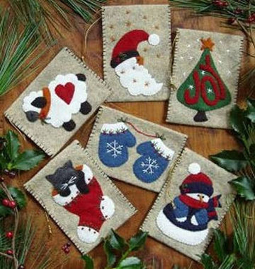 Gift Bag Ornaments Wool Kit
