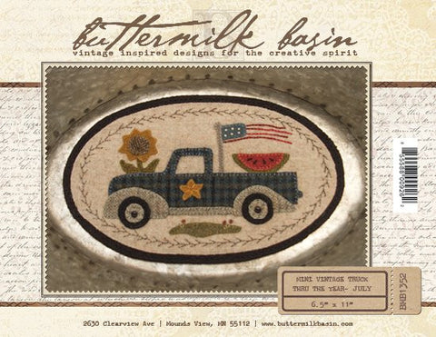 July Mini Vintage Truck Pattern
