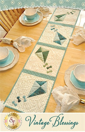 Vintage Blessings~ July Table Runner Pattern