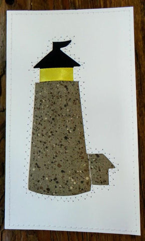 Lighthouse Quilted Card