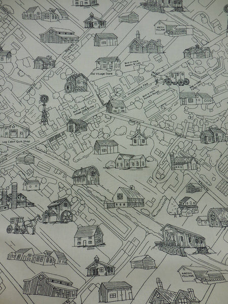 Map Of Bird In Hand Black And White Log Cabin Quilt Shop