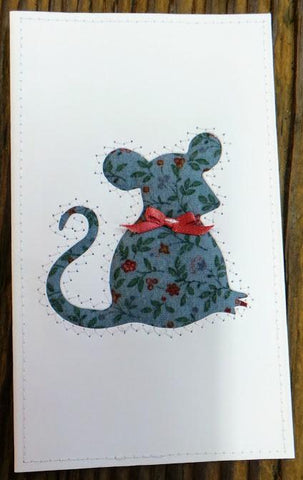 Mouse Quilted Card