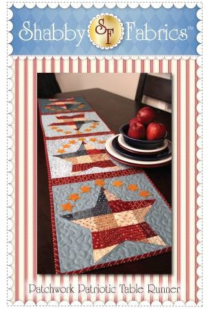 Patchwork Patriotic Table Runner Pattern