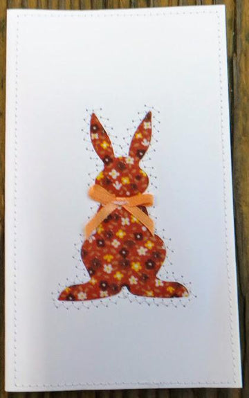 Rabbit Quilted Card