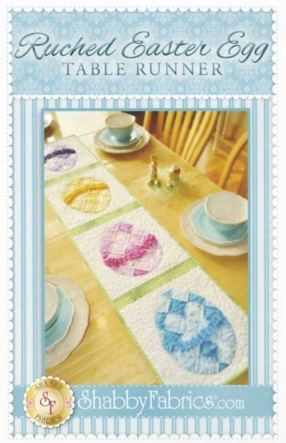 Ruched Easter Egg Table Runner Pattern