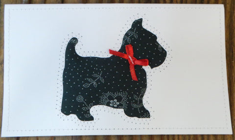 Scottie Dog Quilted Cards