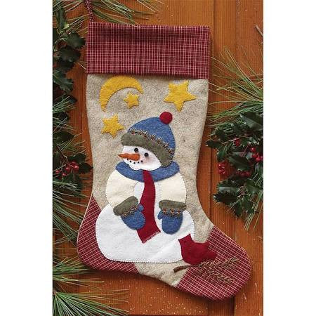 Snowman Stocking Wool Kit