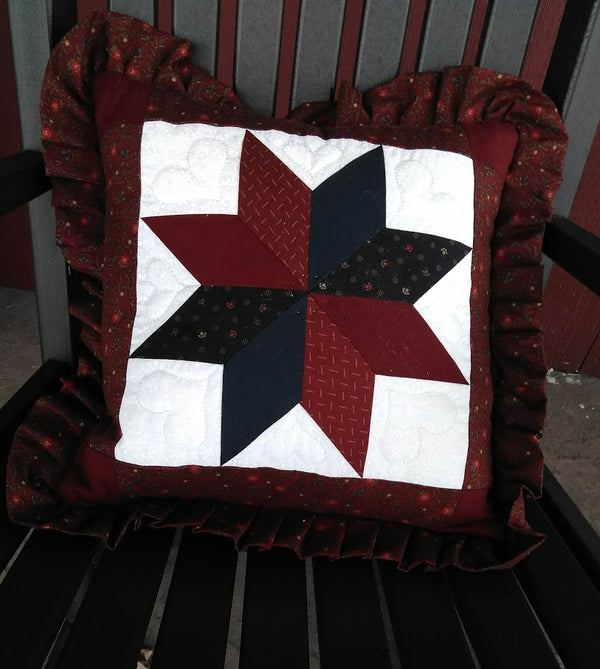 Star Pillow Cover with ruffle
