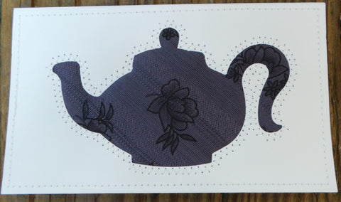Teapot Quilted Card