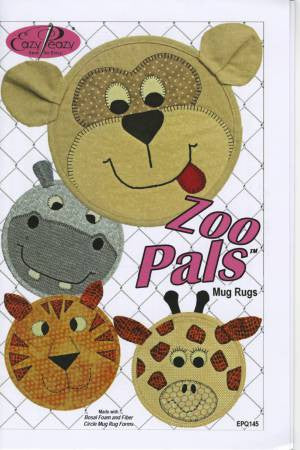 Zoo Pals Mug Rugs Pattern