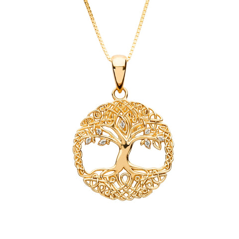 10K. Yellow Gold Tree of Life Pendant