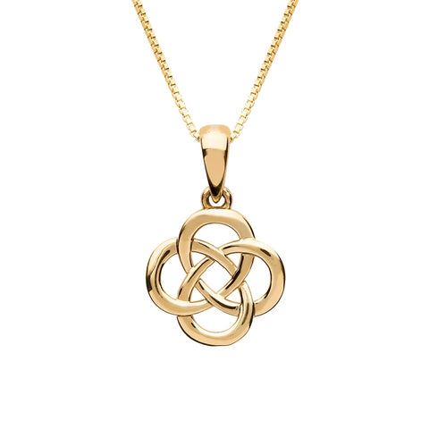 10 K. Yellow Gold Round Celtic Knot Pendant