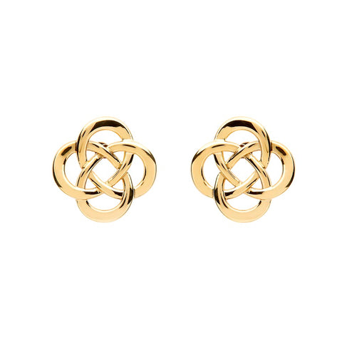 10 K. Yellow Gold Round Celtic Knot Stud Earrings