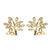 14K. Gold Diamond Tree of Life Stud Earrings