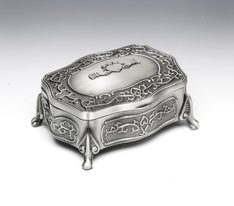 Mullingar Pewter Footed Large Claddagh Jewelry Box