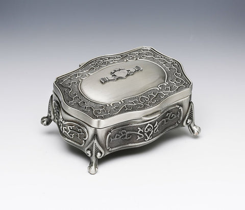 Mullingar Pewter Footed Small Claddagh Jewelry Box