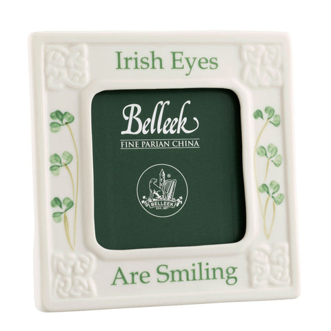 Belleek Classic Irish Eyes are Smiling 3x3 Frame
