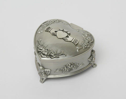 Mullingar Pewter Medium Heart Shaped Jewelry Box