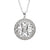 Fado Jewelry Sterling Silver and CZ Celtic Heart Necklace