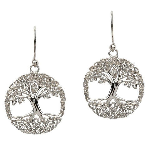 ShanOre Sterling Silver Tree of Life Earrings