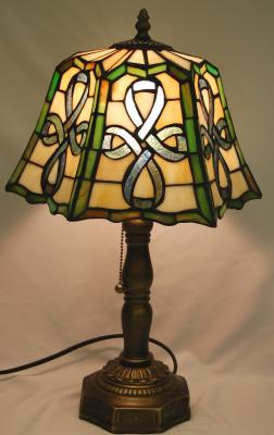 Stained Glass Celtic Top Pleated Lamp