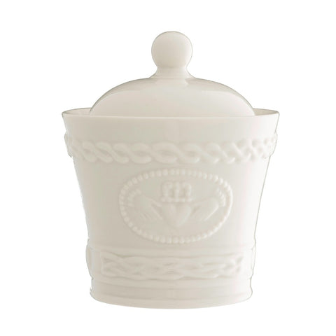 Belleek Classic Claddagh Sugar Bowl