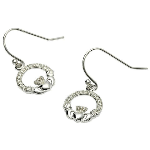 ShanOre Claddagh Stone Set Silver Earrings