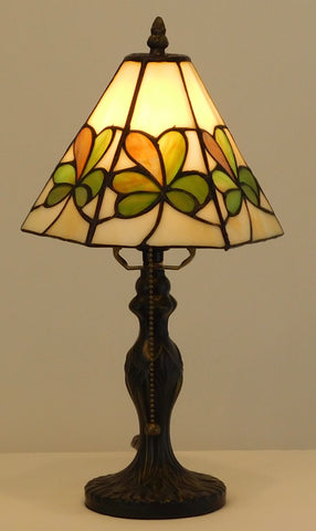 Stained Glass Shamrock Lamp