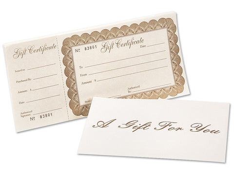 Gift Certificates - Various Amounts