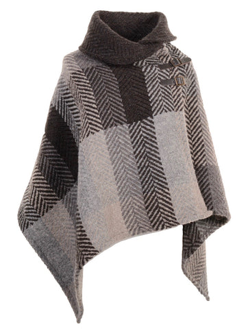 Branigan Weavers Oak Herringbone Shawl Collar Cape