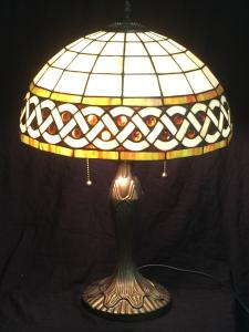 Stained Glass Celtic Knot Amber Lamp