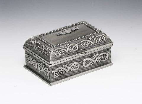 Mullingar Pewter Small Claddagh Jewelry Box