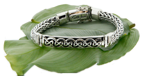 Keith Jack Sterling Silver Dragon Weave Bracelet